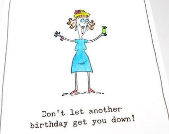 Funny Birthday Card 40th 50th 60th Happy Getting Old Senior Citizen Age Lady Sarcastic