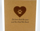 Pet Sympathy Card, Loss of Pet, Pet Condolence, Bereavement, Sorry for your loss, Dog Sympathy, Cat Sympathy, Veterinarian