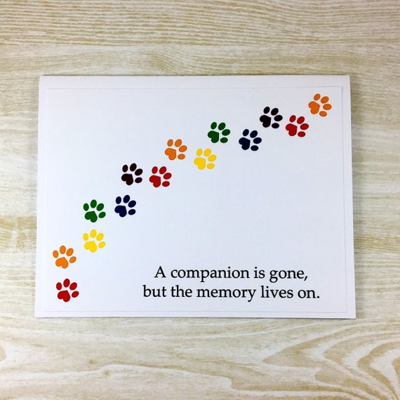 Loss Of Pet >> Pet Sympathy Card Dog Sympathy Cat Sympathy Loss Of Pet Rainbow Bridge Sorry For Your Loss Condolence Dog Died Cat Died Bereavement