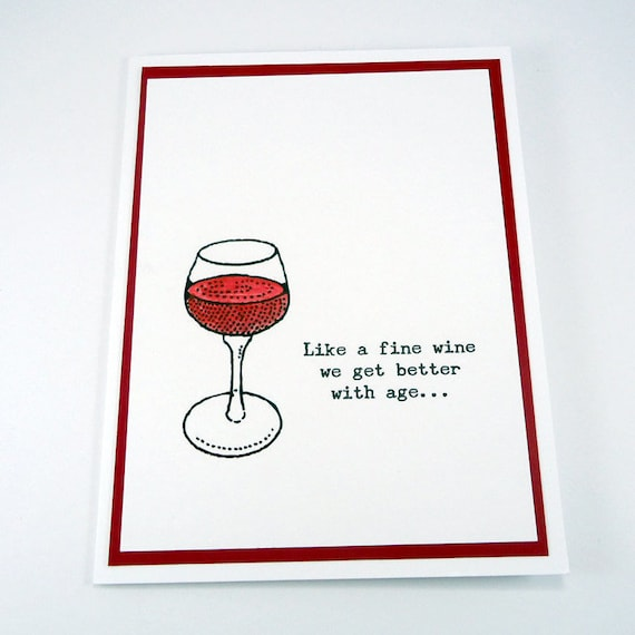 50th Birthday Card Wine Birthday Funny Birthday Happy Etsy