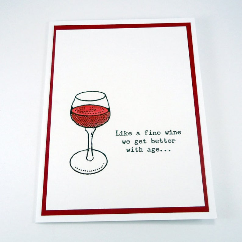 50th Birthday Card Wine Funny Happy