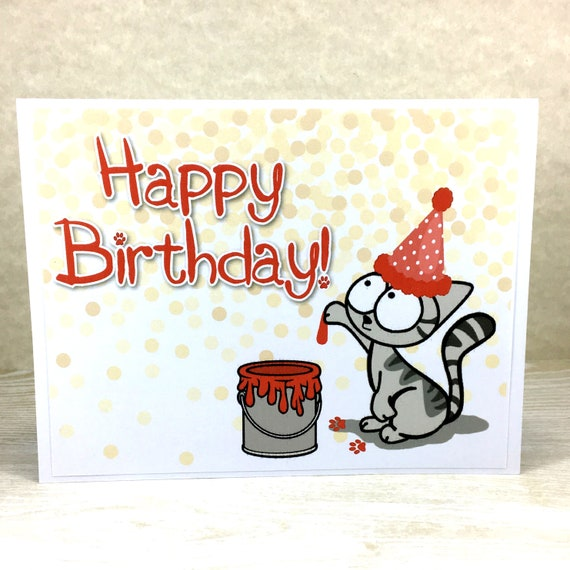 Cat Birthday Card Happy Funny For
