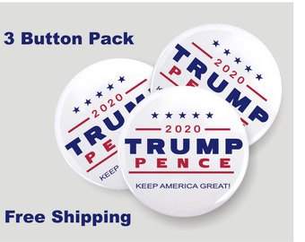 6 PACK! New Release SUPPORT DONALD TRUMP USA PATRIOT 2.25 RED KEEP AMERICA GREAT KAG Buttons Pins Badges SIX BUTTONS!