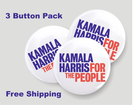 Kamala Harris For The People Pin Back Button Badge 3 Pack Etsy
