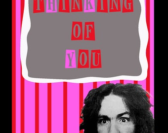 Charles Manson Thinking of You card