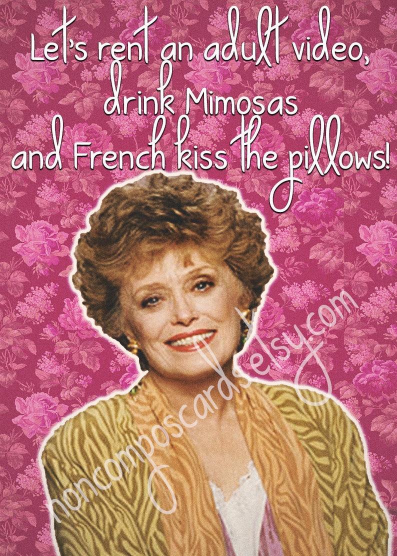 Blanche Devereaux Golden Girls Valentine Friendship BFF image 1