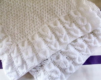BLUEBELL BABY BLANKET knitting pattern pdf