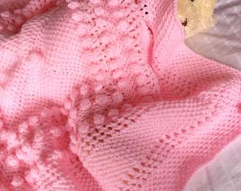 CHERRY BLOSSOM baby blanket knitting pattern