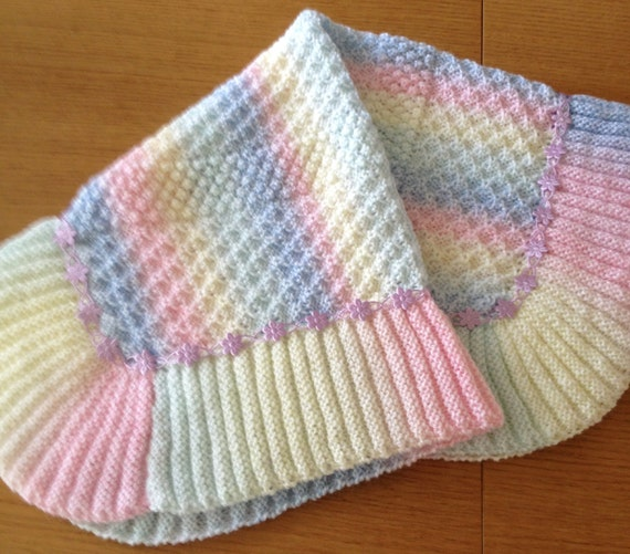 Rainbow Dust baby blanket knitting pattern Etsy Simple Baby Blanket Knitting Pattern