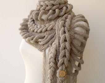New Rapunzel Wool Scarf-Milky Brown-Fall Fashion