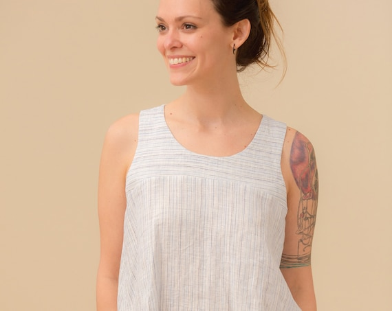 Linen - Scoop Neck, Racerback, Swing Tank, Linen Tank Top