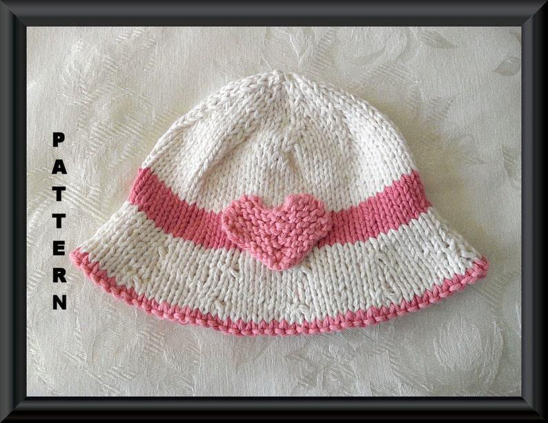d9c6659cf6d Knitted Hat Pattern Baby Hat Pattern Newborn Valentine Hat