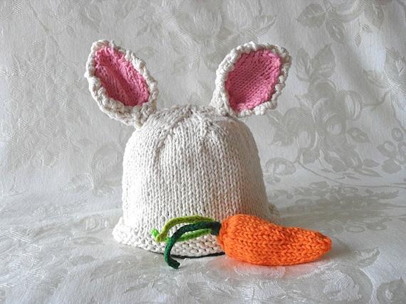 Gestrickte Baby Mütze stricken gestrickt Ostern Hase Kaninchen | Etsy