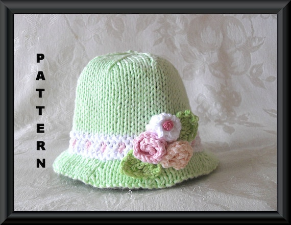 Knitted Hat Pattern Baby Hat Pattern Newborn Hat Pattern Etsy