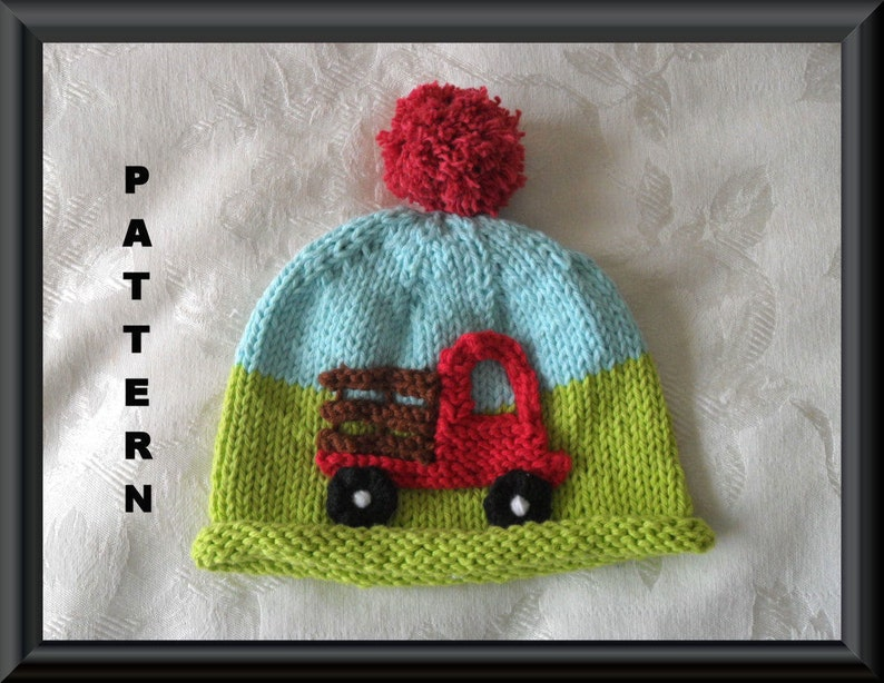 859cc9d21be Knitted Hat Pattern Baby Hat Pattern Infant Hat Pattern
