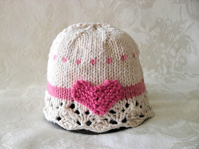 8967c0db790 Baby Hats Knitting Knitted Baby Hat Cotton Knit Baby Cloche