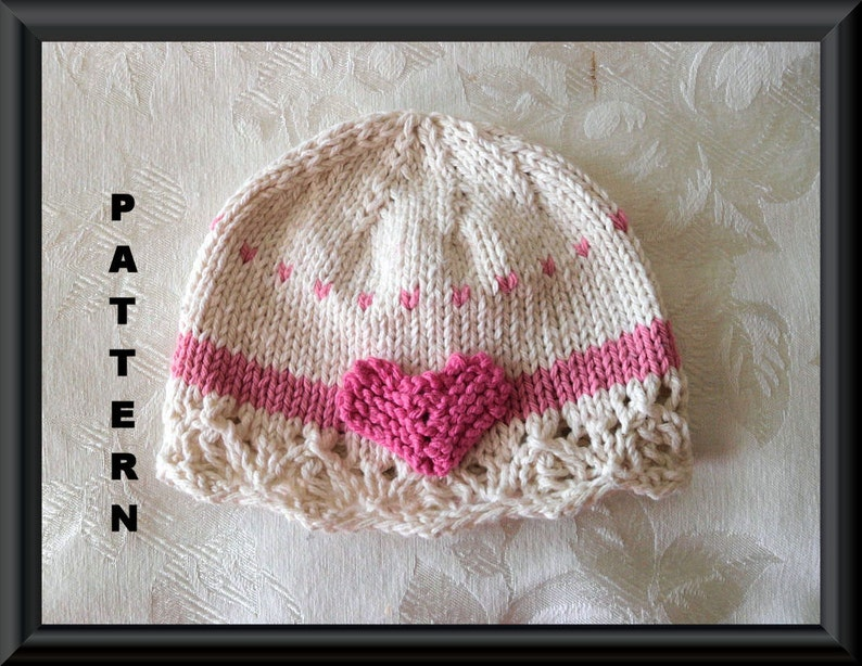 74be7d54037 Knitted Hat Pattern Baby Hat Pattern Newborn Hat Pattern