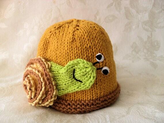 Gestrickte Schnecke Baby Mütze stricken stricken Baby Mütze | Etsy