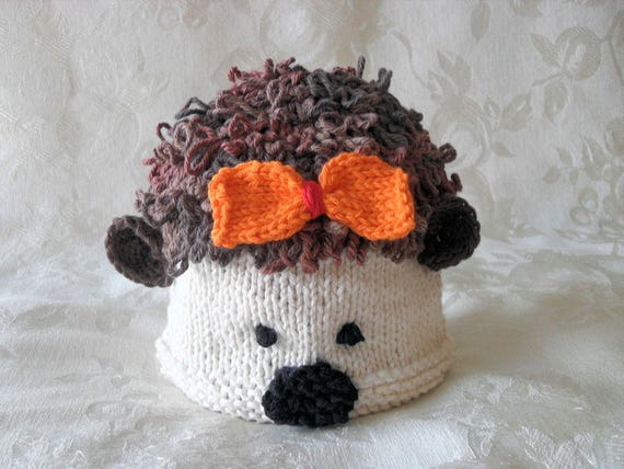 Knitted Baby Hedgehog Hat Hedgehog Baby Beanie Animal Baby cap  5a08dfbd391