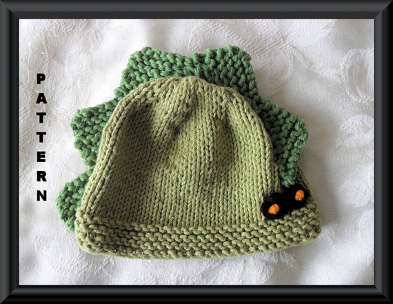 Knitted Hat Pattern Baby Hat Pattern Dinosaur Hat Pattern Baby Etsy