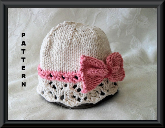 Knitted Hat Pattern Baby Hat Pattern Knitting Pattern For Baby Etsy