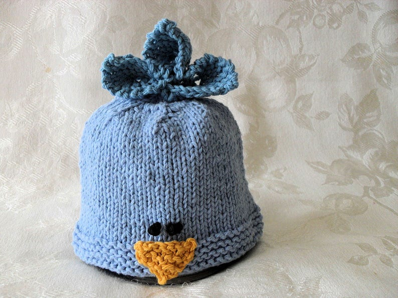 8552e6263b2 Baby Hats Knitting Knit Baby Hat Hand Knitted Bluebird Baby