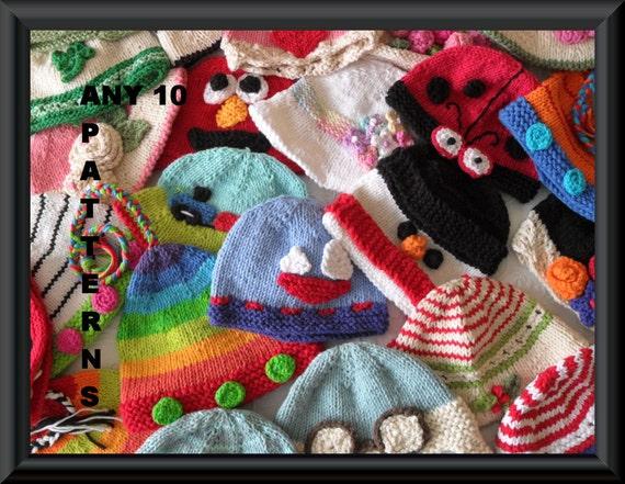 Zehn Baby Mütze Muster Bulk Muster Bestellung Hut Muster | Etsy
