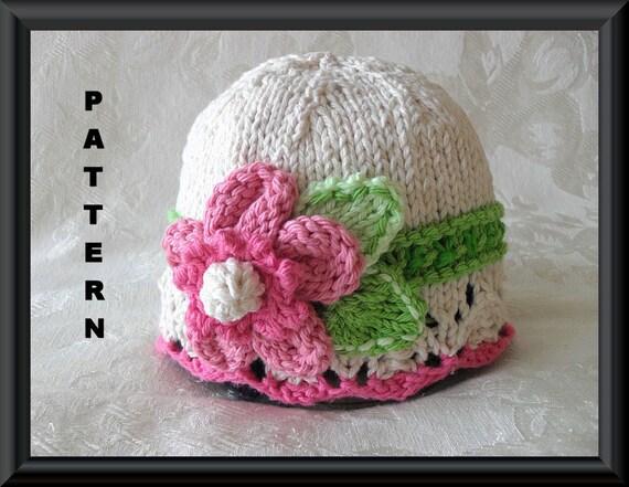 Knitted Baby Hat Pattern Newborn Hat Pattern Infant Hat Etsy