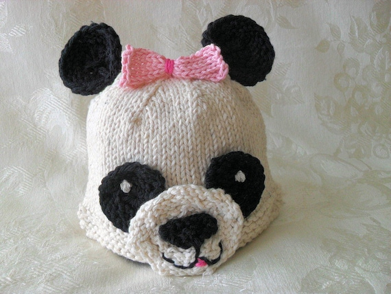 0e1a4a3e039 Baby Hat Knitting Knitted baby Beanie Knitted Baby Panda