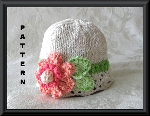 Knitted Hat Pattern Instant Download Baby Hat Pattern Knitted Etsy