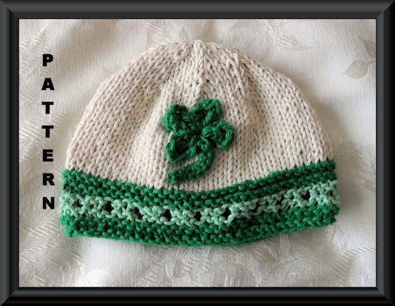 Knitted Hat Pattern Baby Hat Pattern Knitted Irish Beanie Etsy