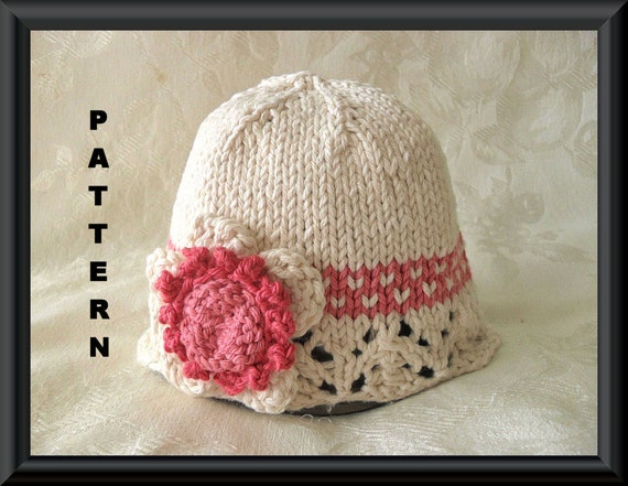 4ed8d315b6e Knitted Hat Pattern Baby Hat Pattern Newborn Baby Hat Infant