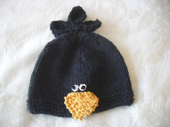 8f05fa9529d Baby Hats Knitting Knit Baby Hat Hand Knitted Black Crow Baby