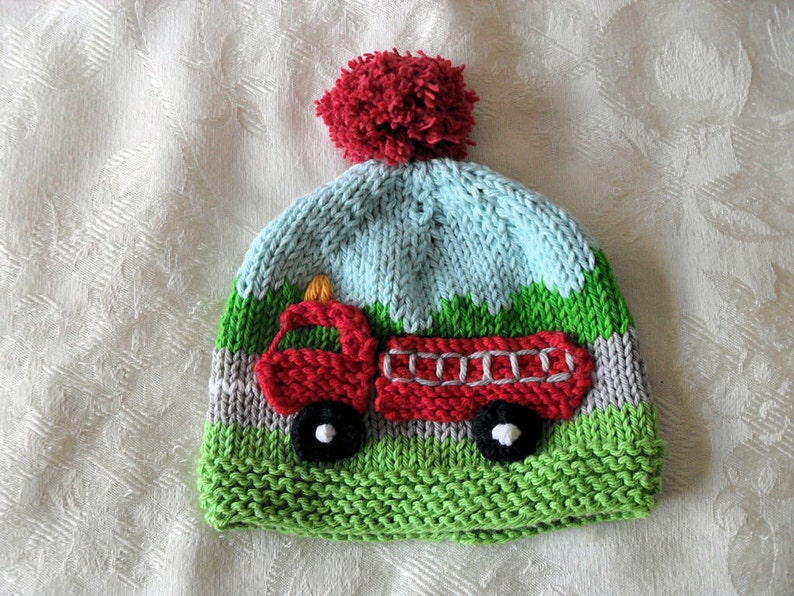 75968f44dfd35 Baby Hat Knitting Knit Baby Hat Knitted baby hat Baby Beanie Knitted Fire  Engine Hat cotton knitted baby hat Fire Truck Hat