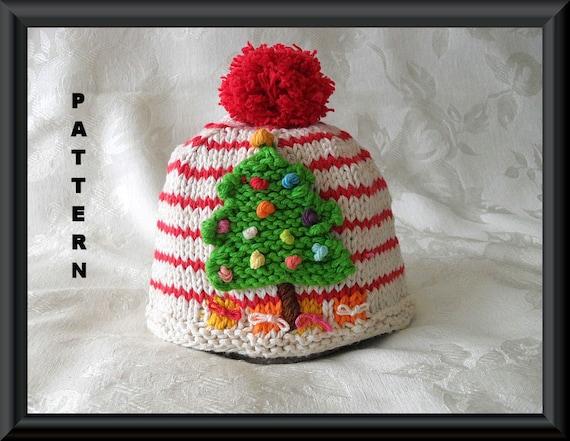 Knitted Hat Pattern Baby Hat Pattern Newborn Hat Pattern Infant Hat Pattern  Children Clothing Christmas Baby Hat Pattern  O CHRISTMAS TREE 054abcd3579