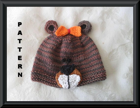 Knitted Hat Pattern Baby Hat Pattern Instant Download Hat  4781075a6da