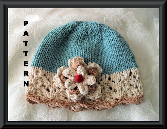 Baby Hat Pattern Knitted Hat Pattern Newborn Hat Pattern Etsy