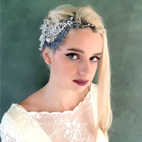 Spectacular wedding or party silver headpiece