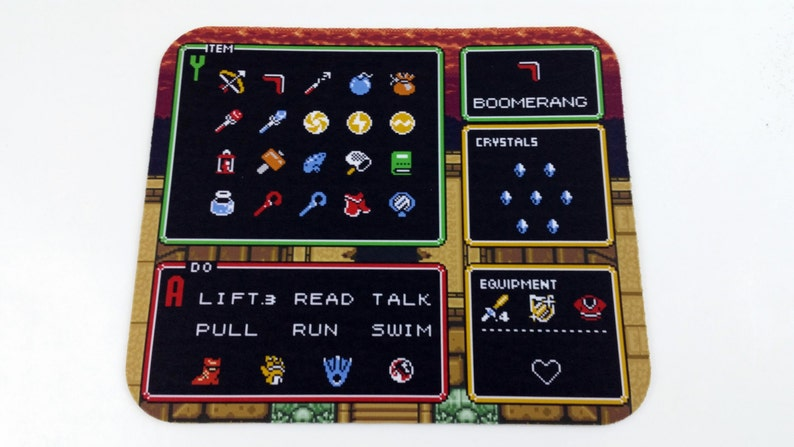 SNES Mouse Pad  Zelda: Link to the Past Item Screen image 0