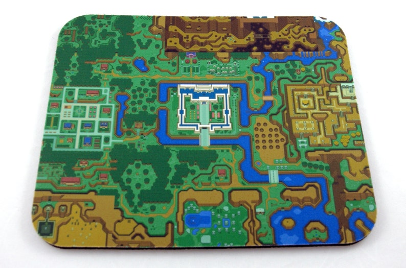 SNES Mouse Pad  Zelda: A Link to the Past World Map image 0