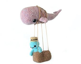 Skywhale - Amigurumi Crochet Pattern, Full Set