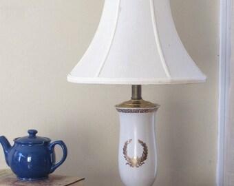 Greek Ceramic Lamp Etsy