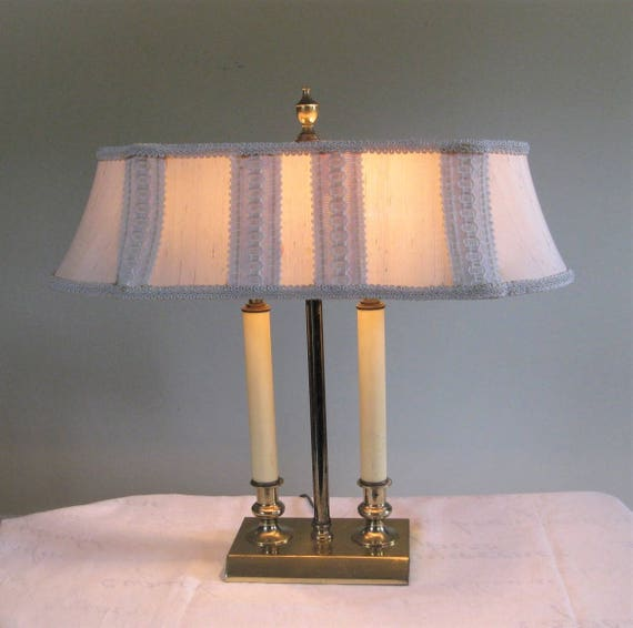 Vintage Brass Double Candlestick Light Table Lamp Original Etsy