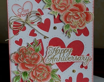 happy anniversary love for her for memories Make Memories appreciation for best friend card Letterpress Card by Of Note Stationers