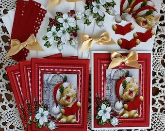 DIY Card Kit, Handmade Christmas Card, Christmas Greetings, Holiday Card, Winter greeting card, All Occasion Card, Birthday Card, ,