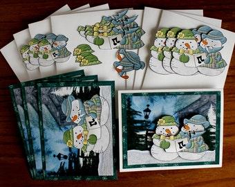 DIY Card Kit, Winter Any Occasion card Kit-Birthday Card Kit, Thinking of You Card Kit,  Holiday Card Kit, Xmas Card Kit, Christmas Card Kit