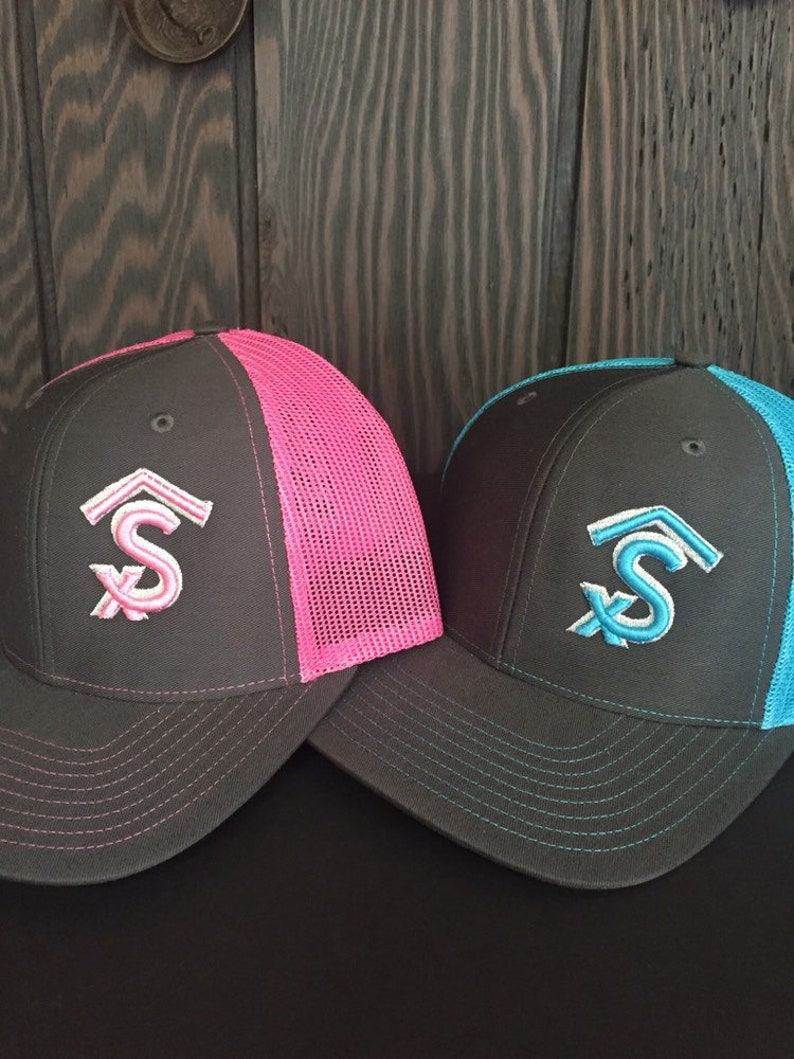 SET OF 4 Custom Branded Hats Ranch Caps 3D Embroidered  59374dc04fc6