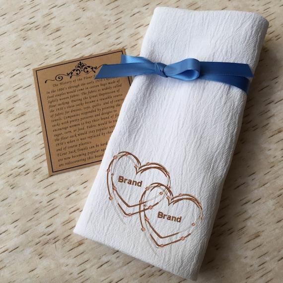 custom livestock brand flour sack towel personalized | etsy