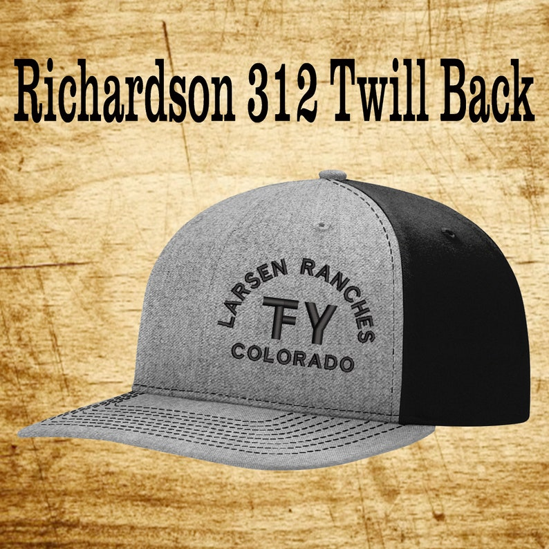 53466d0d63f49 Richardson 312 Twill Back Custom Branded Hat Embroidered