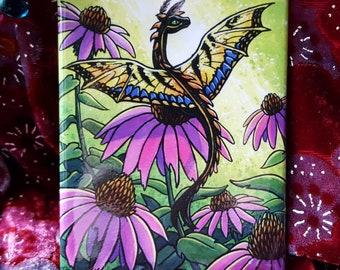 Tiger Swallowtail Dragon Fridge Magnet | Art Magnet | Fantasy Magnet | Dragon Magnet | Cute Magnet